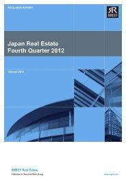 Japan Real Estate Fourth Quarter 2012 - Rreef