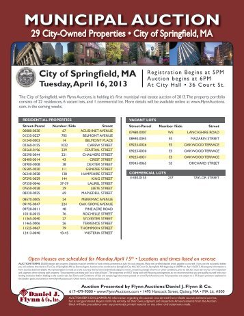 MuniCiPAl AuCtion - City of Springfield