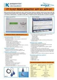 Prospekt Řídící jednotky APP (PDF 217 kB) - LK Pumpservice