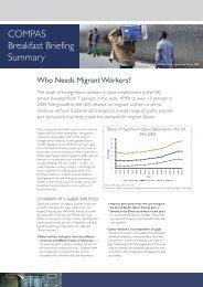 COMPAS Breakfast Briefing Summary - COMPAS - University of ...