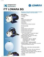 Prospekt BG (PDF 272 kB) - LK Pumpservice