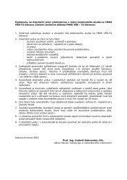 Požadavky na disertační práci předloženou v rámci doktorského ...