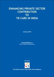 enhancing private sector contribution to tb care in india