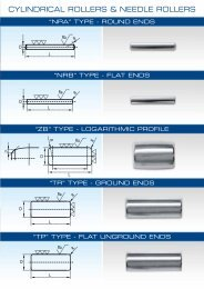 CYLINDRICAL ROLLERS & NEEDLE ROLLERS