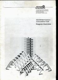 ANCHOR Belt Fasteners