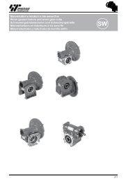 Motoriduttori e riduttori a vite senza fine Worm geared motors and ...