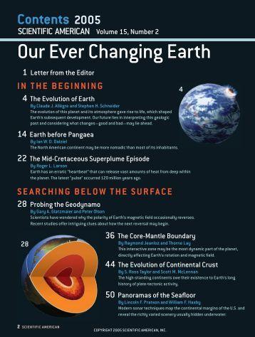 Our Ever Changing Earth Our Ever Changing Earth - Scientific ...