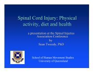 Physical activity, diet and health - Spinal Injuries Association