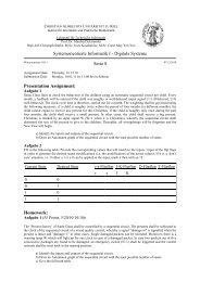 Systemorientierte Informatik I - Digitale Systeme Serie 8 Presentation