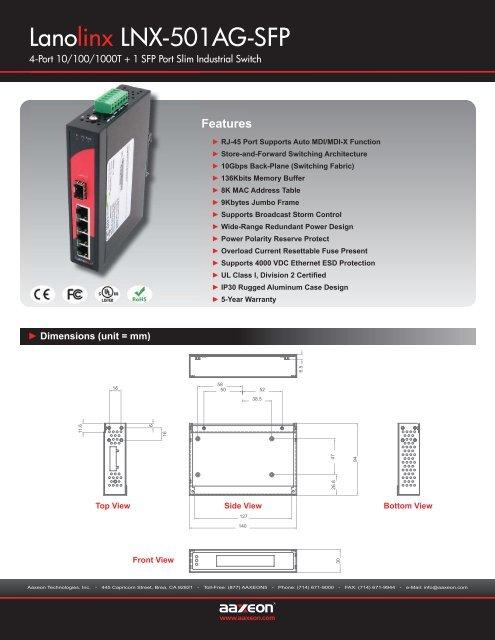 Lanolinx LNX-501AG-SFP - NextWarehouse com