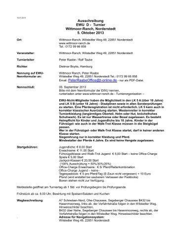 Ausschreibung Schwalbach-Schöffengrund, EWU-C Turnier, 16