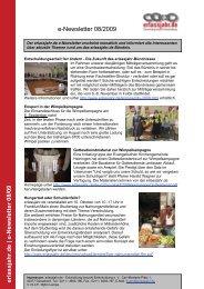 e-Newsletter 08/09 - Erlassjahr.de
