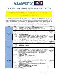 Foundation and Degree Courses - Universiti Tunku Abdul Rahman