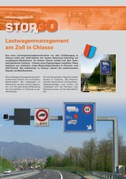 Lastwagenmanagement am Zoll in Chiasso - Signal AG