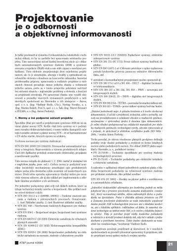 Projektovanie - ATP Journal