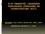 Ing. J. Hájek Ph.D. - ateam.zcu.cz - Západočeská univerzita v Plzni
