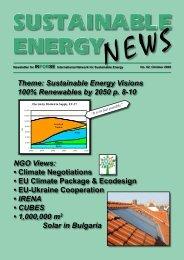 SEN 62 - International Network for Sustainable Energy