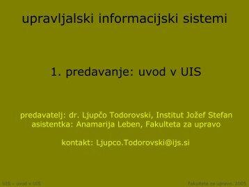 upravljalski informacijski sistemi - Student Info