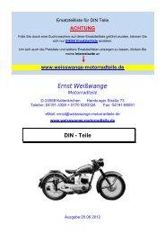 DIN - Teile - Ernst Weißwange