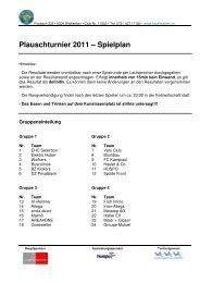 Plauschturnier 2011 – Spielplan - FC Wallisellen Homepage