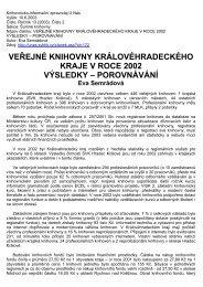 veřejné knihovny královéhradeckého kraje v roce 2002 - Studijní a ...