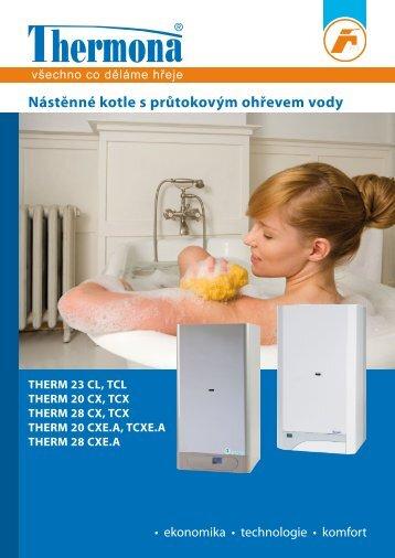 Thermona - Katalog kotle s průtokovým ohřevem TUV - Bernold