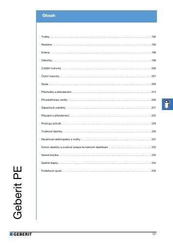 Geberit - Katalog PE potrubí (stažený 2.6.2011) - Bernold