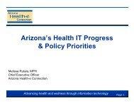 Arizona's Health IT Progress & Policy Priorities - Arizona Center ...
