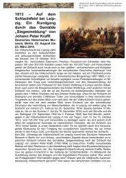 1813 – Auf dem Schlachtfeld bei Leipzig. Ein Rundgang durch das ...
