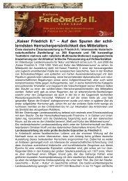 """""""Kaiser Friedrich II - Historischeausstellungen.de"""