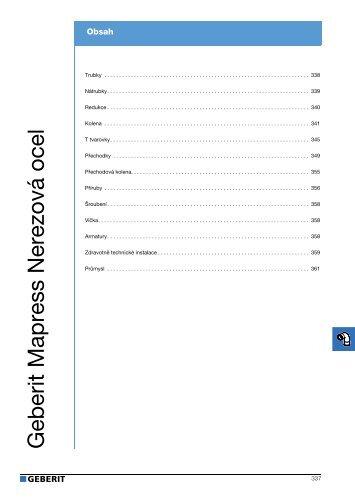 Geberit - Katalog nerezového potrubí (stažený 2.6.2011) - Bernold