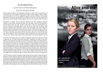 Alice and the dreamtellers.indd - Sevenoaks School
