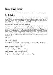 Wung-Sung, Jesper Indledning - Jan Thiemann