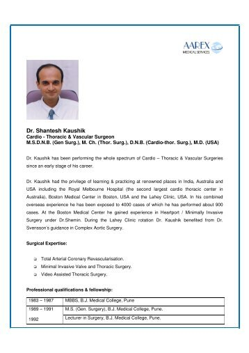 Dr. Shantesh Kaushik - Surgery in India