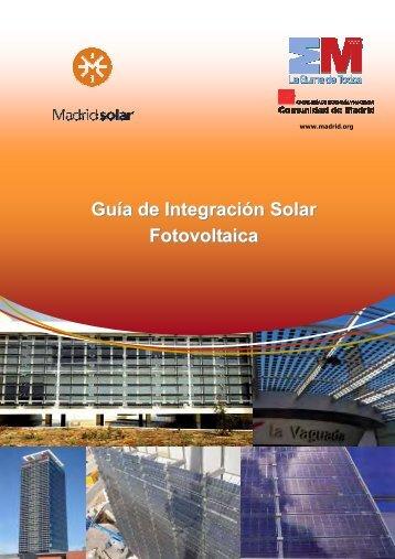 Guía de Integración Solar Fotovoltaica - Comunidad de Madrid