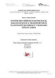 systém pro měření elektrických, magnetických a transportních ...
