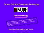 Enova Technology Corporation.