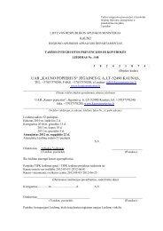 """UAB """"KAUNO POPIERIUS"""" JĖGAINĖS G. 6, LT-52490 KAUNAS,"""