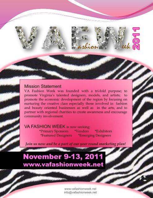 Mission Statement Va Fashion Week Is Now Seeking