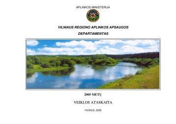veiklos ataskaita - Vilniaus regiono aplinkos apsaugos departamentas