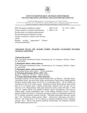 2009-12-08 Atrankos išvada dėl Bajorų durpių telkinio dalies ...