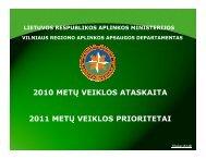 VRAAD 2010 metų veiklos ataskaitos pristatymas - Vilniaus regiono ...
