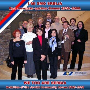 "Katalog ""I mi smo Srbija"" - Jevrejska opština Zemun"