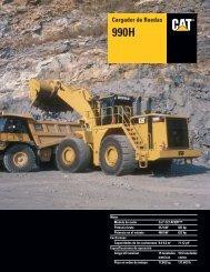 Specalog for Cargador de Ruedas 990H, ASHQ5688 - Kelly Tractor