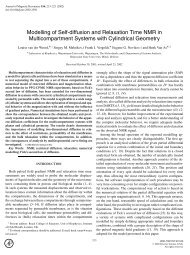 Modelling of Self-diffusion and Relaxation Time ... - ResearchGate