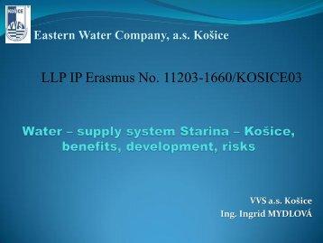 Ingrid Mydlová - Water supply system Starina