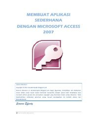 Ebook Microsoft Access 2007 Bahasa Indonesia