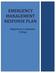 Emergency management response plan - Hagerstown Community ...