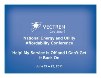 National Energy and Utility Affordability Conference Help! My ...