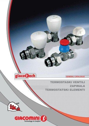Celoten katalog radiatorskih ventilov! - Ika